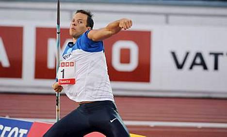 Tero Pitkämäki heittänee maailmancupissa keihästä Euroopan joukkueessa 2010.