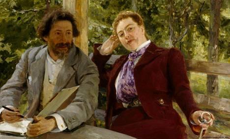 Tretjakovin gallerian Repin-näyttelyssä on Ateneumista lainassa muun muassa Natalia Nordmannin ja Ilja Repinin kaksoismuotokuva.
