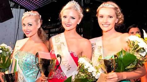 Nina Heinikoski, Jenni Peräinen ja Marika Mattus ovat Miss Tampere -kisan voittajakolmikko.