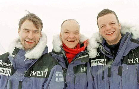 Ari, 26, Timo Polari, 28, ja Tommi, 27, kuvattuina Grönlannissa kaksi päivää ennen suuren seikkailunsa alkua.