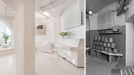 Helsingissä sijaitseva luksusasunto, joka oli yli sata vuotta yleinen sauna