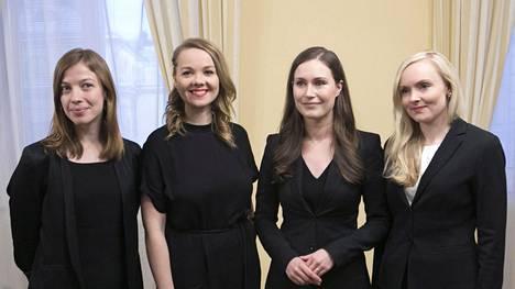 Tämä ministerinelikko on tehnyt Suomesta tasa-arvon ihmemaan ympäri maailmaa: Li Andersson (vas), Katri Kulmuni (kesk), Sanna Marin (sdp) ja Maria Ohisalo (vihr).
