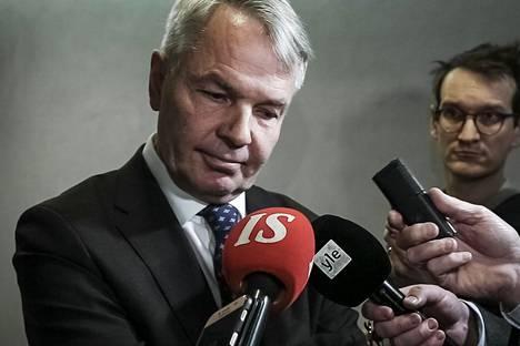 Ulkoministeri Pekka Haavisto kävi eduskunnan ulkoasiainvaliokunnan kuultavana tiistaina.
