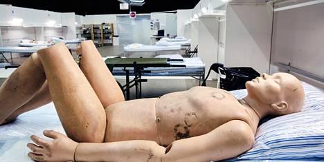 Tukholman kenttäsairaalassa oli tilat 550 potilaalle.