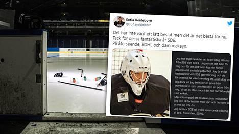 Kohun keskelle joutunut 21-vuotias ruotsalaismaalivahti ilmoitti päätöksestään sunnuntaina Twitterissä.