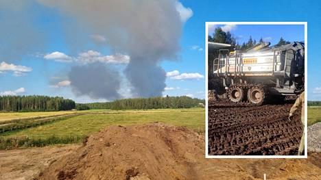 Tuuliolosuhteet ovat hankaloittaneet palon taltuttamista.