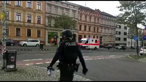Poliisi on eristänyt tekopaikan.