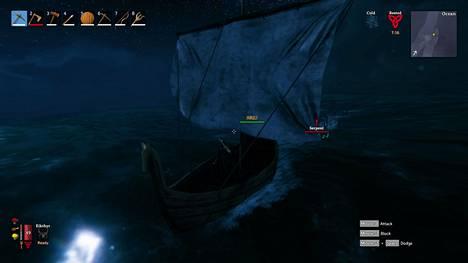 Juuri kun myrsky hellitti ja merenkäynti tasaantui, päätti merihirviö käydä viikinkien kimppuun.