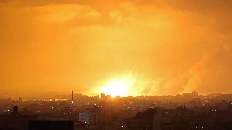 Israel teki ilmaiskuja Gazan kaistan pohjoisosiin 14. toukokuuta.