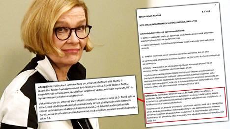 Paula Risikon johtaman puhemiesneuvoston muistiossa listattiin sote-aikataulutukseen liittyvät epävarmuustekijät. Johtopäätöksenä oli, ettei uudistusta olisi ehditty käsitellä eduskunnassa ennen eduskuntavaalien ennakkoäänestyksen käynnistymistä.