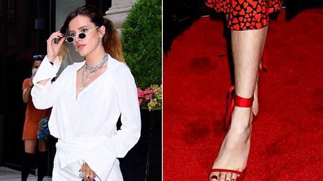 Täytyykö sääret sheivata? Esimerkiksi Bella Thorne on esiintynyt julkisuudessa usein jalkakarvoineen.