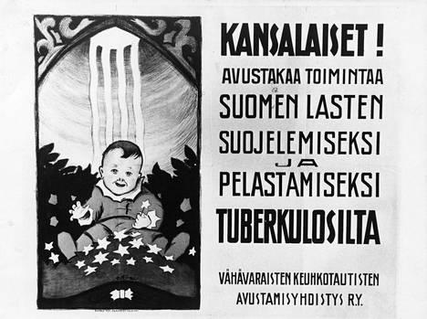 Tuberkuloosi johti kuolintilastoja vielä 1950-luvulla. Varoja hoitotyöhön kerättiin monella tavalla.