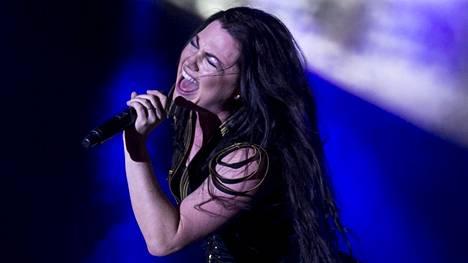 Evanescence esiintyi Suomessa edellisen kerran 2017. Kuva Tšekistä samalta vuodelta.