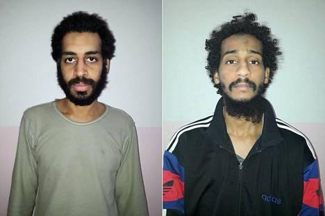 SDF-joukot vangitsivat Alexanda Koteyn (vas.) ja El Shafeel Elsheikhin tammikuussa 2018 Syyrian itäosissa.