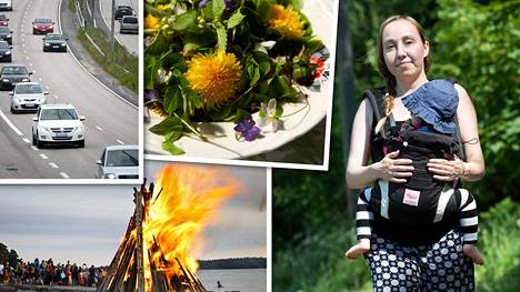 Taloussanomat kysyi säästövinkkejä juhannukseen. Kuvan Leila Saarivirta säästää muun muassa grillaamalla yleisellä paikalla ja jättämällä mökkireissun väliin.