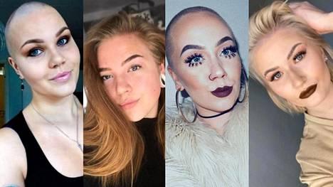 Petra, Sanna, Jenna ja Nelli ovat kaikki kokeneet hiusten ajamisen aivan siiliksi.