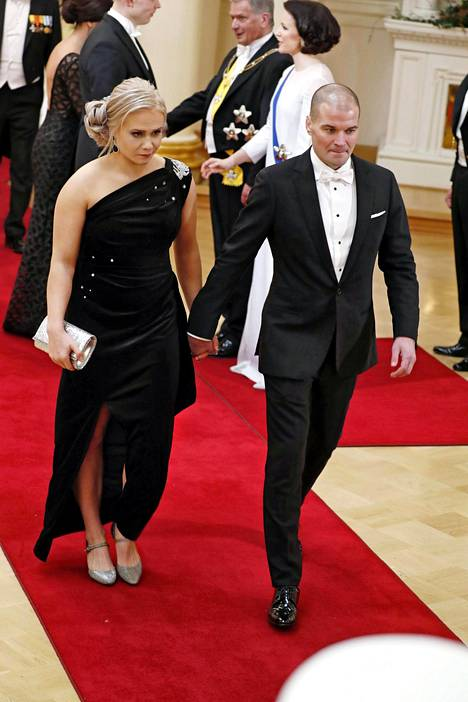 Petra Olli ja Indrek Vassus Linnan juhlissa vuonna 2018.