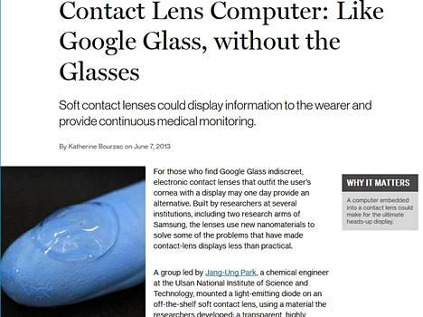 Tutkijat onnistuivat istuttamaan led-pikselin pehmeään piilolinssiin.