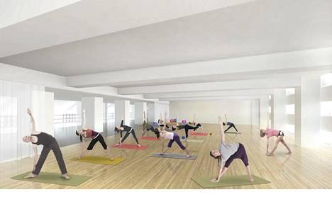 Monitoimisalissa voi pitää esimerkiksi kokouksia tai liikuntatunteja.