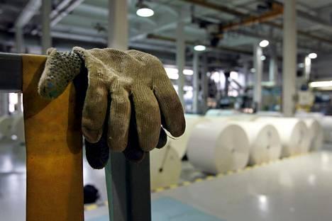 Stora Enson Anjalan paperitehdas lakon aikaan 28. huhtikuuta 2005