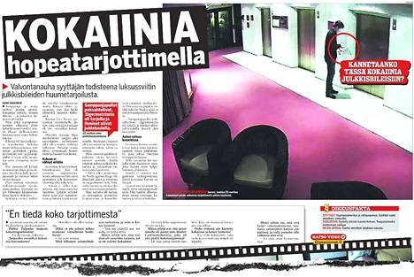 Ilta-Sanomat uutisoi kokaiinitapauksesta 16.10.2007.