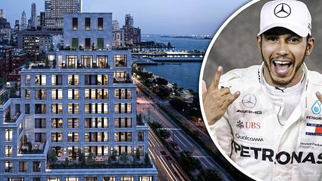 Lewis Hamilton osti 35 miljoonan euron kattohuoneiston Manhattanilta – talo on täynnä muita megatähtiä