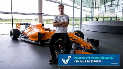 Olli Pahkala debytoi keskiviikkona McLaren-kuljettajana, kun F1 Esports -sarja alkaa Lontoossa.