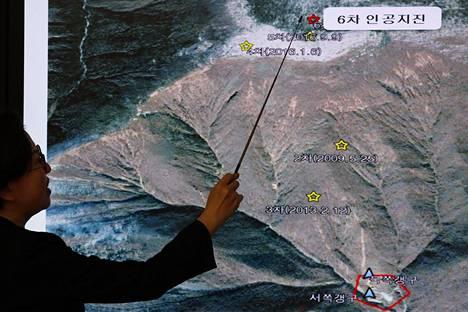 Punggye-rin ydinkoealue sijaitsee vuoristoisella seudulla Pohjois-Korean luoteiosassa.