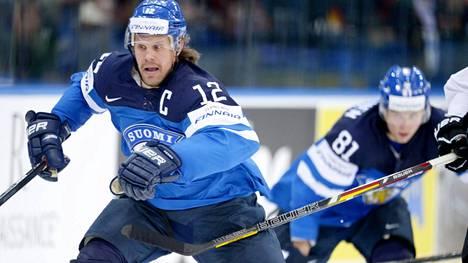 Olli Jokinen oli Leijonien kapteeni MM-kisoissa 2014.