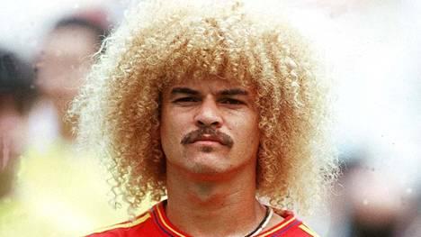 Loppuun vielä klassikko. Kolumbialaislegenda Carlos Valderrama, joka toimi Kolumbian kapteenina MM-kisoissa 1990, 1994 ja 1998.