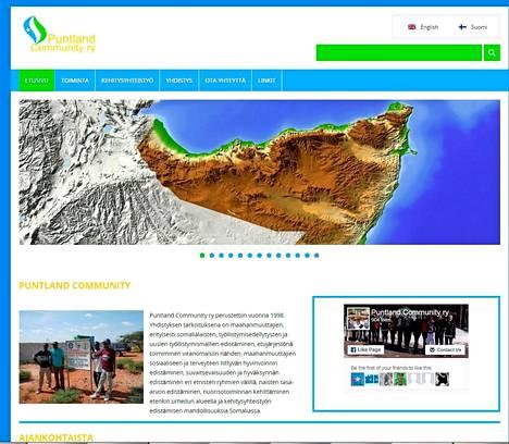 Kuvakaappaus Putlandin Communityn verkkosivuista.