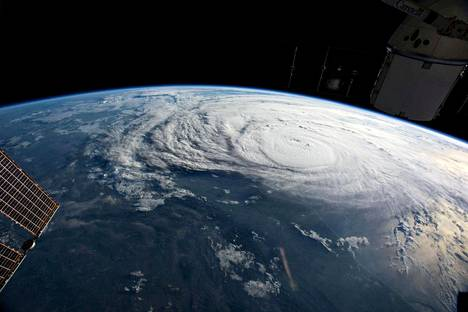 Hurrikaani Harvey kansainväliseltä avaruusasemalta kuvattuna.