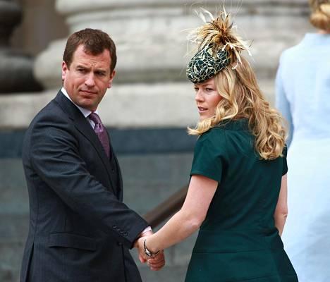Peter Philips ja hänen Autumn-puolisonsa vihittiin Windsorin linnassa toukokuussa 2008.