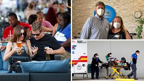 Potilas vietiin ensiapuun Floridan Clearwaterissa elokuussa.
