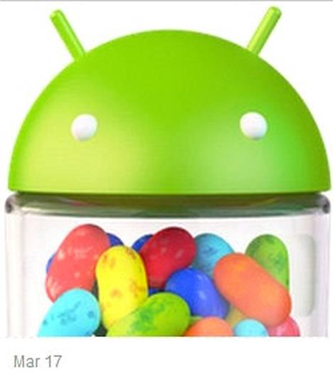 Android Policen kaappaamassa Google Keepin sivussa esiintyy muun tämä Jelly Bean -rasia.