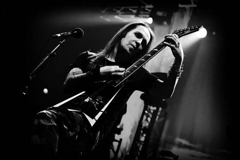 Laiho esiintymässä Helsingissä maaliskuussa 2011 Children of Bodom -yhtyeen maailmankiertueella.
