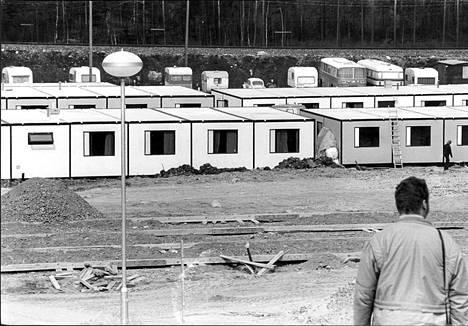 Porvoon Kilpilahdella sijainnut Nesteen siirtotyömaa. 1950-luvulla siirtotyömaita perustettiin etenkin Etelä-Suomeen.