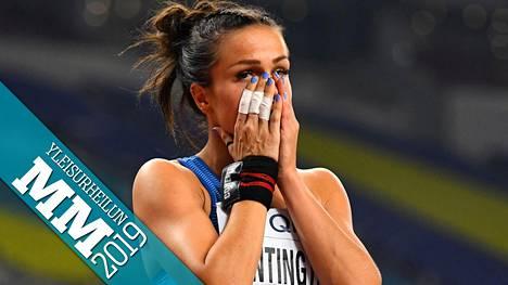 Maria Huntingtonin MM-seitsenottelu katkesi sairastumiseen.