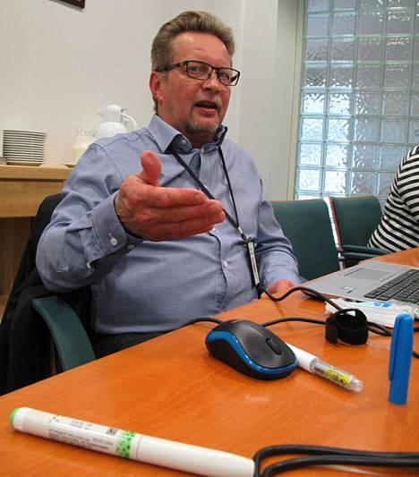 Suhdanteet eivät heiluta insuliinin tarvetta. Kari Hakulinen kertoo, että diabeteksen yleistymisen vuoksi Phillips-Medisizen työtilanne näyttää hyvältä.