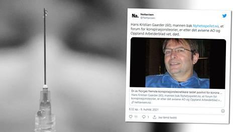 Norjassa tunnettu koronavirusdenialisti on kuollut.
