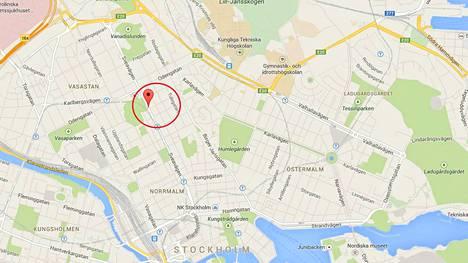 Kuvakaappaus Google mapsista.