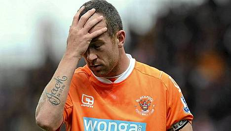 Blackpoolin Charlie Adamilla on vaikea päivä sunnuntaina,