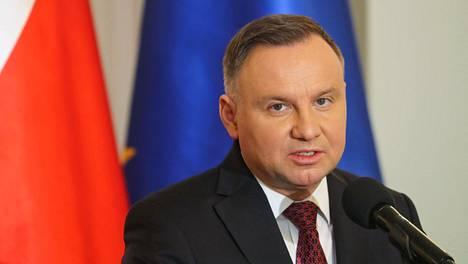 Puolan presidentti Andrzej Duda arkistokuvassa.