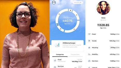Enfucen perustajiin kuuluva Denise Johansson kertoi yhtiön julkistaneen ostosten perusteella hiilijalanjälkeä seuraavan My Carbon Action -sovelluksen.