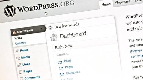 Ilmainen ja avoimeen lähdekoodin perustuva Wordpress on maailman yleisin verkkosivujen alusta.