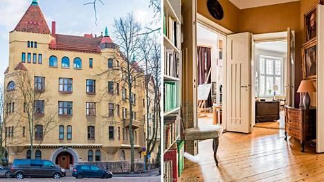 """Helsingissä myytävä jugend-asunto ei ole tusinatavaraa. """"Eräs asiakas kuvaili, että tämä asunto on kuin peikkolinnasta."""""""