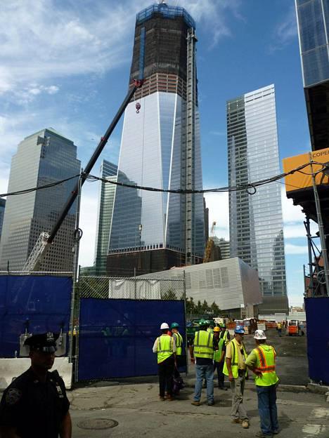 Kuvassa uusi WTC-alue, kun syyskuun 11. päivän terrori-iskusta tuli kuluneeksi 10 vuotta.
