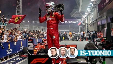 IS:n toimittajat Janne Aittoniemi, Tommi Koivunen ja Tuomas Arkimies arvioivat Singaporen F1-kisan.