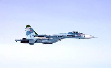 Venäjä käytti ilmatilaloukkauksiin kahta SU-27-tyyppistä hävittäjää vuonna 2016.