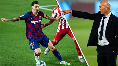Lionel Messin huhutaan jättävän Barcelonan. Real Madridin päävalmentaja Zinedine Zidane toivoo Messin jatkavan katalalonialaisseurassa.